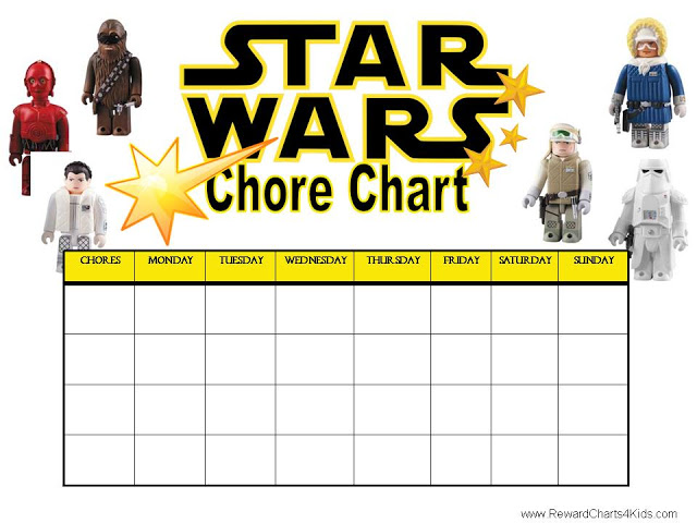5 Images of Star Wars Free Printable Chore Chart
