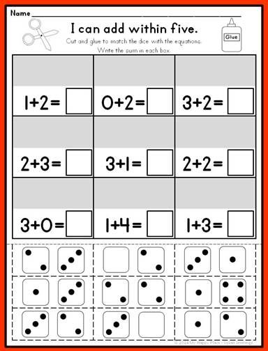 8 Images of Kindergarten Common Core Printables