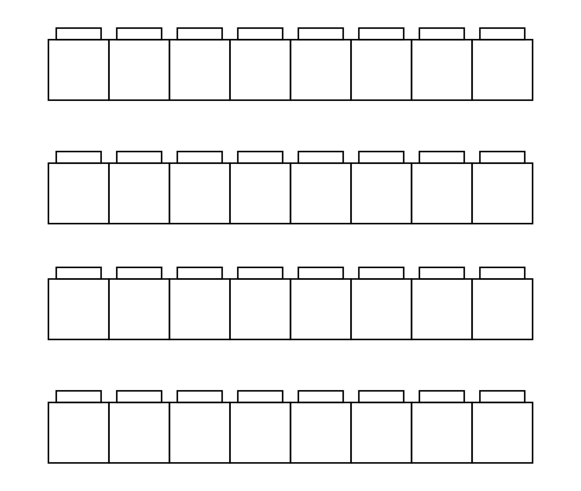 5 Images of Unifix Cube Template Printable