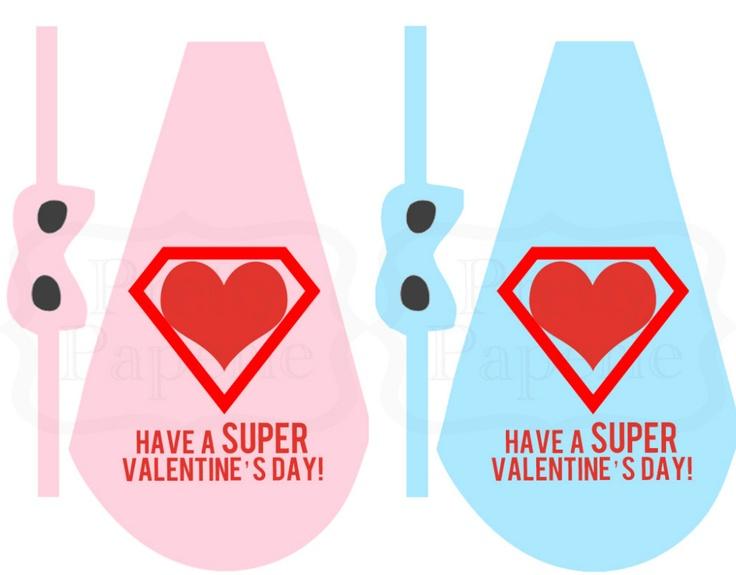 6 Images of Lollipop Superhero Valentine Printable