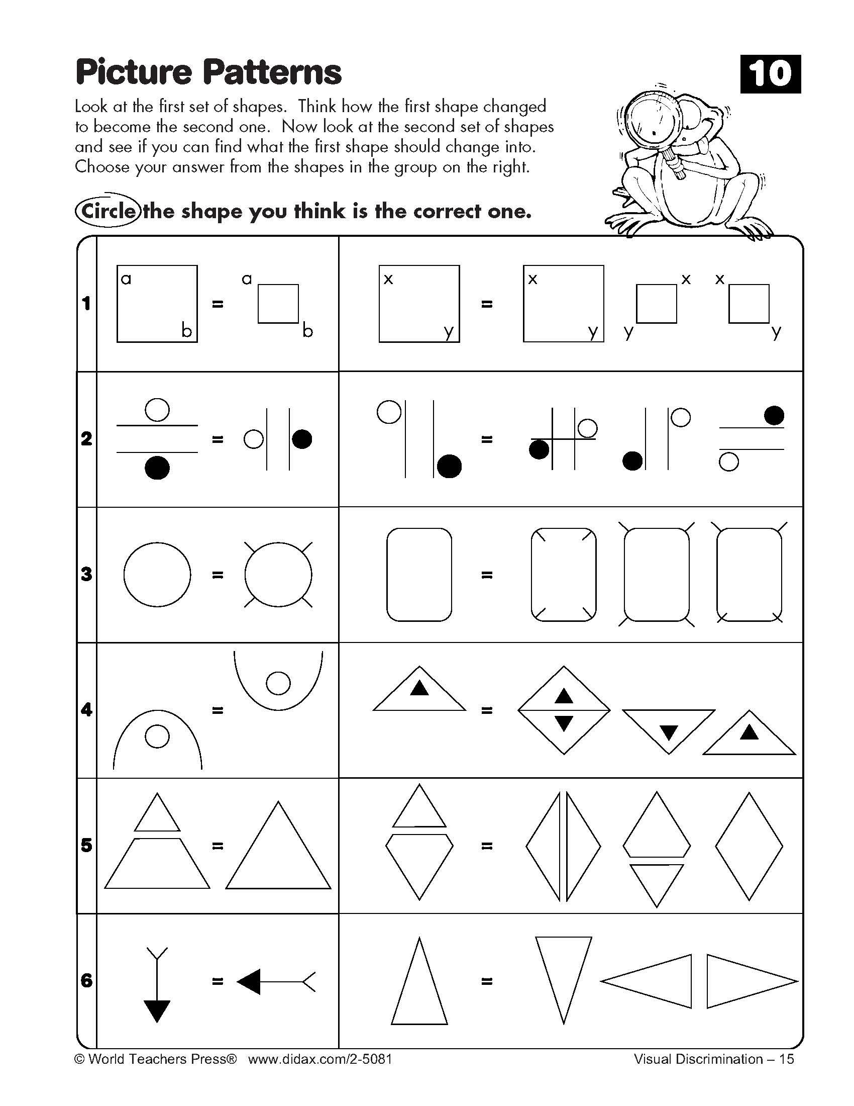7 Best Images of Cognitive Skills Worksheets Printable ...