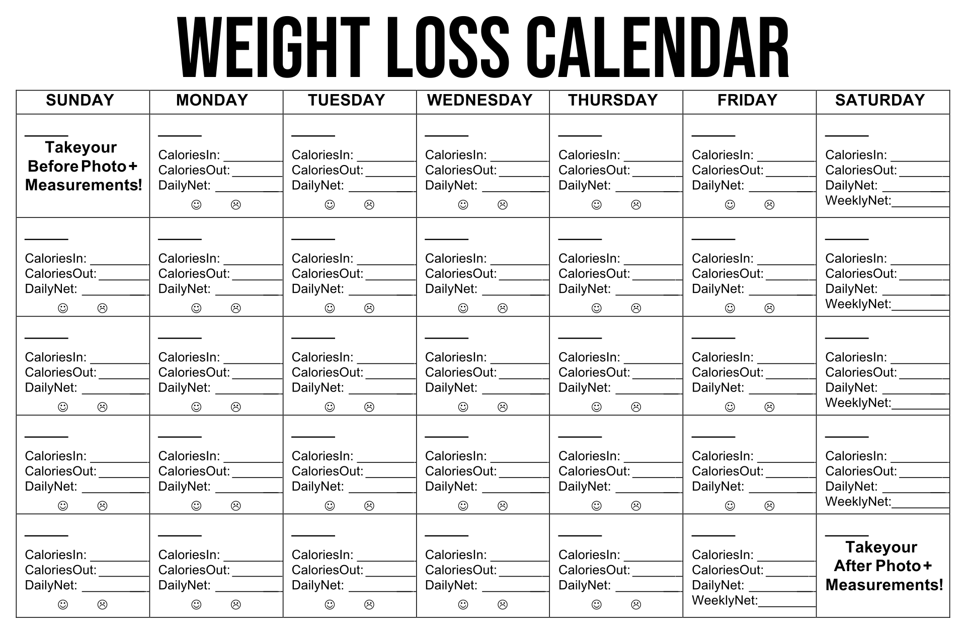 Printable Exercise Plan To Lose Weight - Weight Loss & Diet Plans
