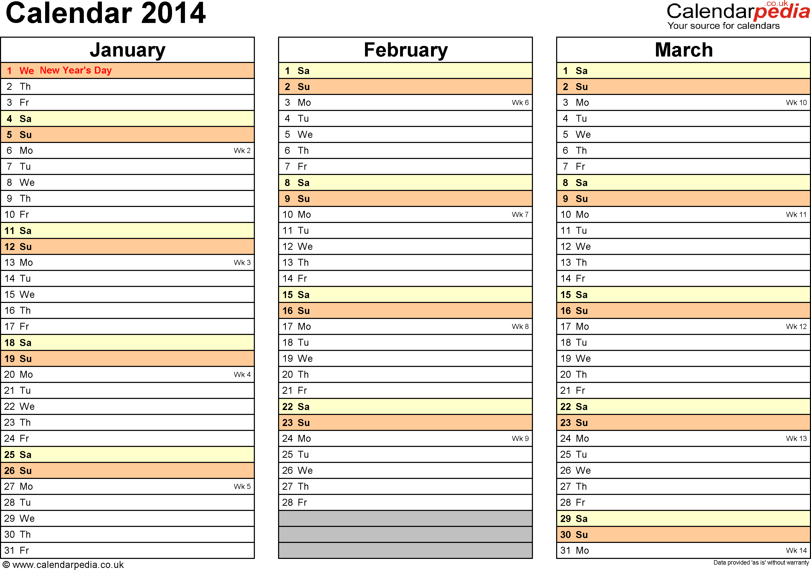 4 best images of printable 2014 monthly planner template for Free planner templates