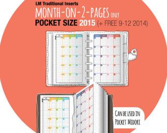 2015 Printable Pocket Size Filofax Refills