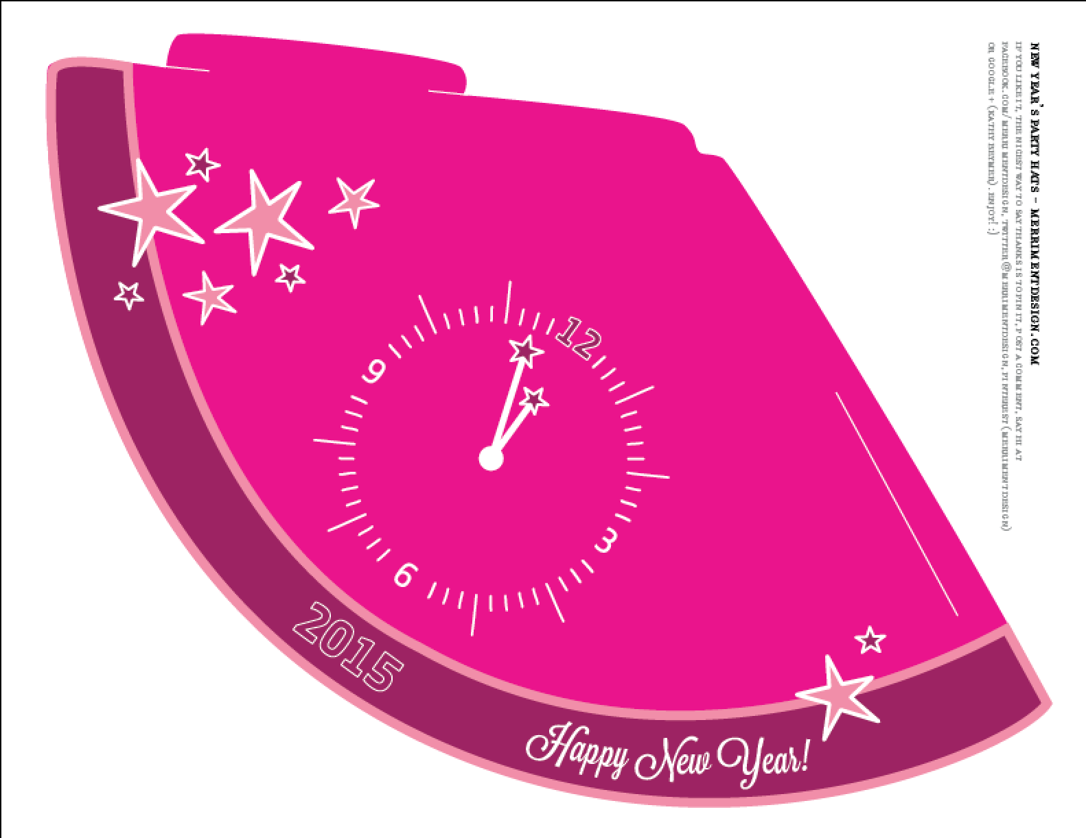 7 Images of New Year's Eve Printables 2015 Hats