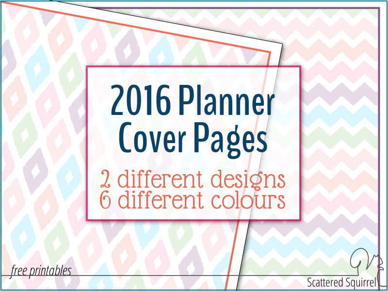 5 Images of Printable 2016 Planner Cover