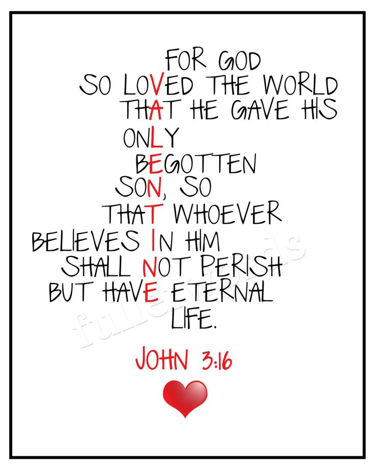 8 Images of Printable Scriptures John 3 16