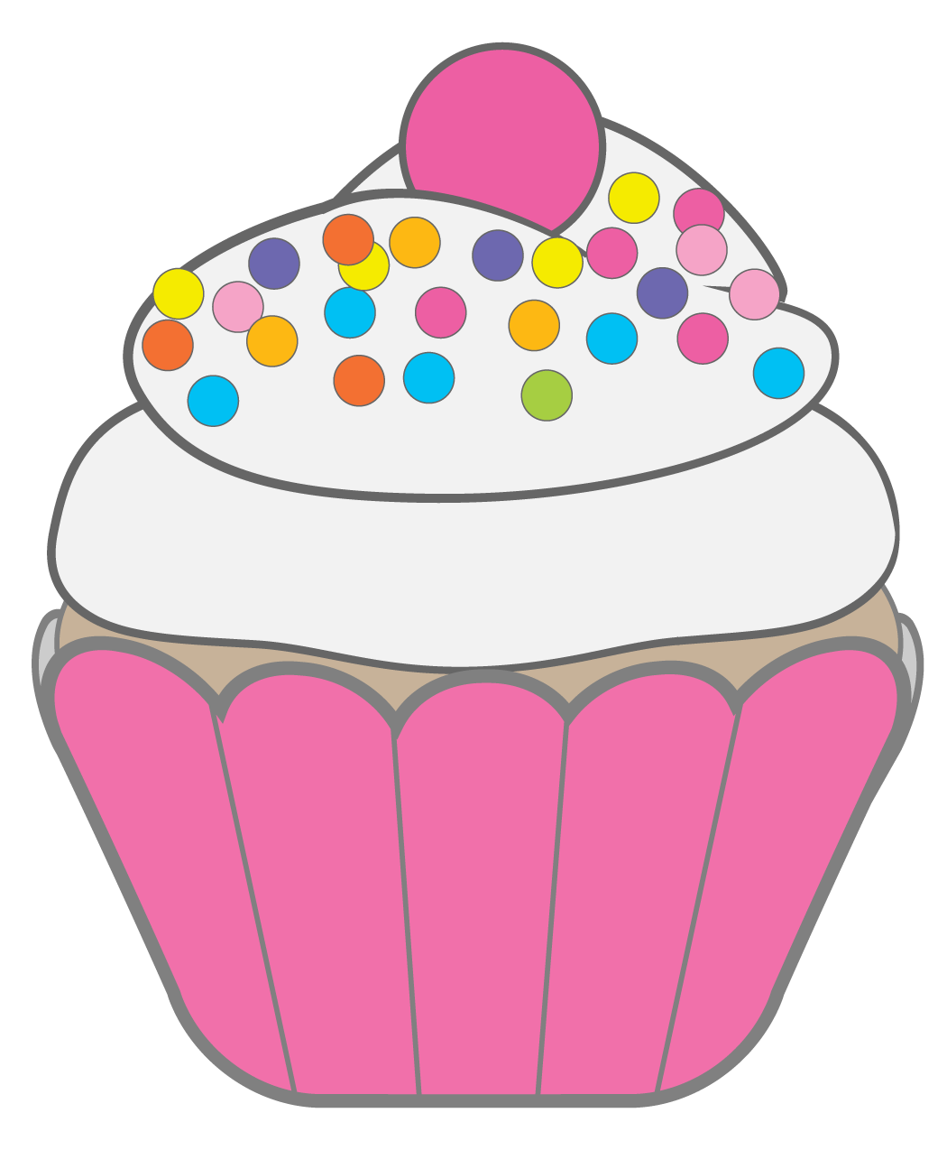 5 Images of Cupcake With Candle Clip Art Printables