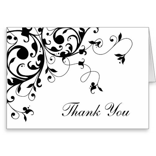 Versatile image with regard to free printable thank you cards black and white