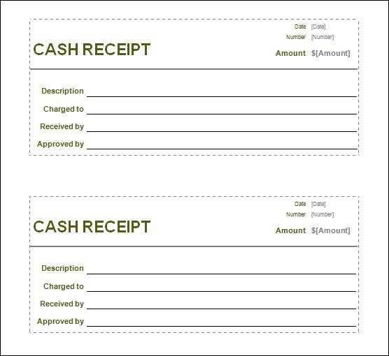 word sales receipt