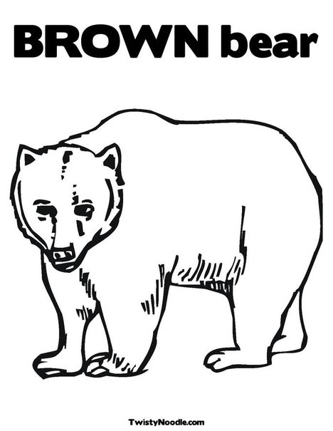 7 Images of Brown Bear Brown Bear Printable Coloring Book