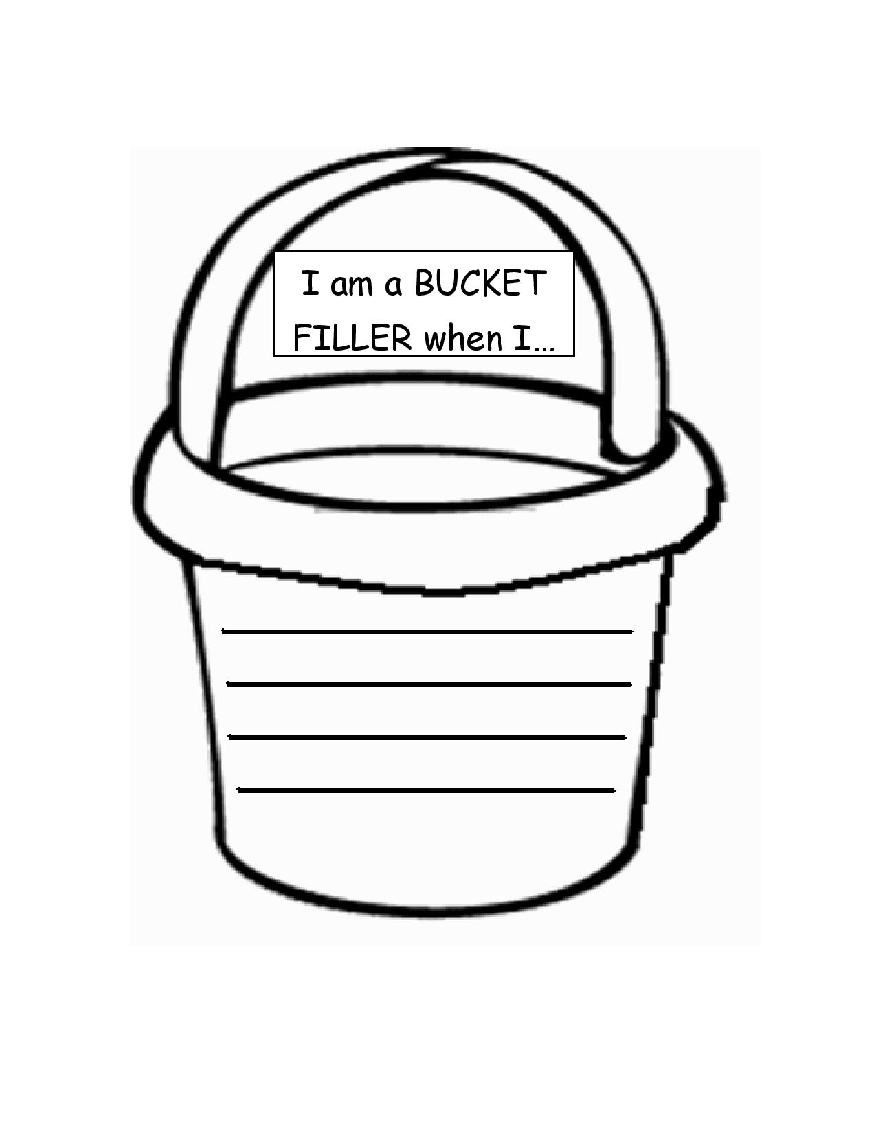 6 Images of Bucket Filler Template Printable