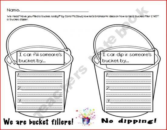 6 Best Images of Bucket Filler Template Printable - Bucket ...