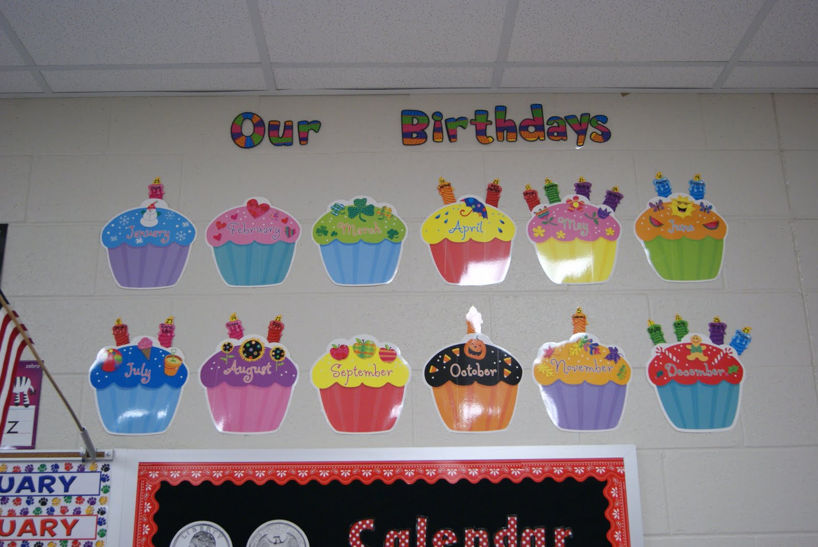 Birthday Calendar For Classroom : Best images of classroom birthday calendar printable