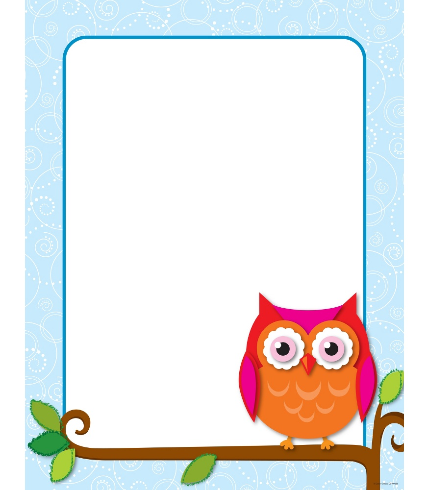 4 Images of Printable Fall Owls Border