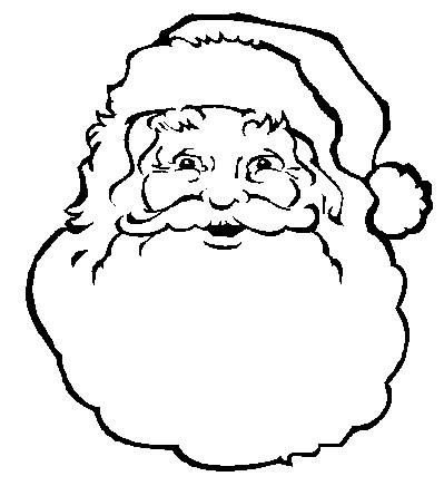5 Images of Santa Face Template Printable