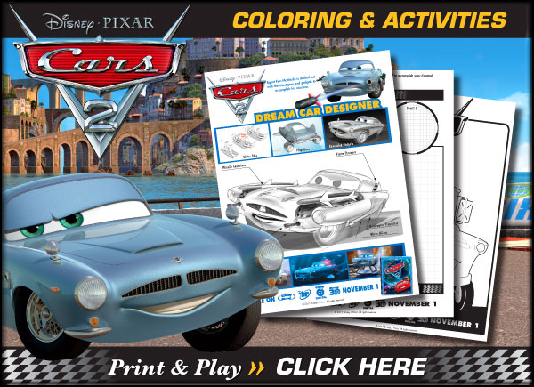7 Images of Cars 2 Activity Printables