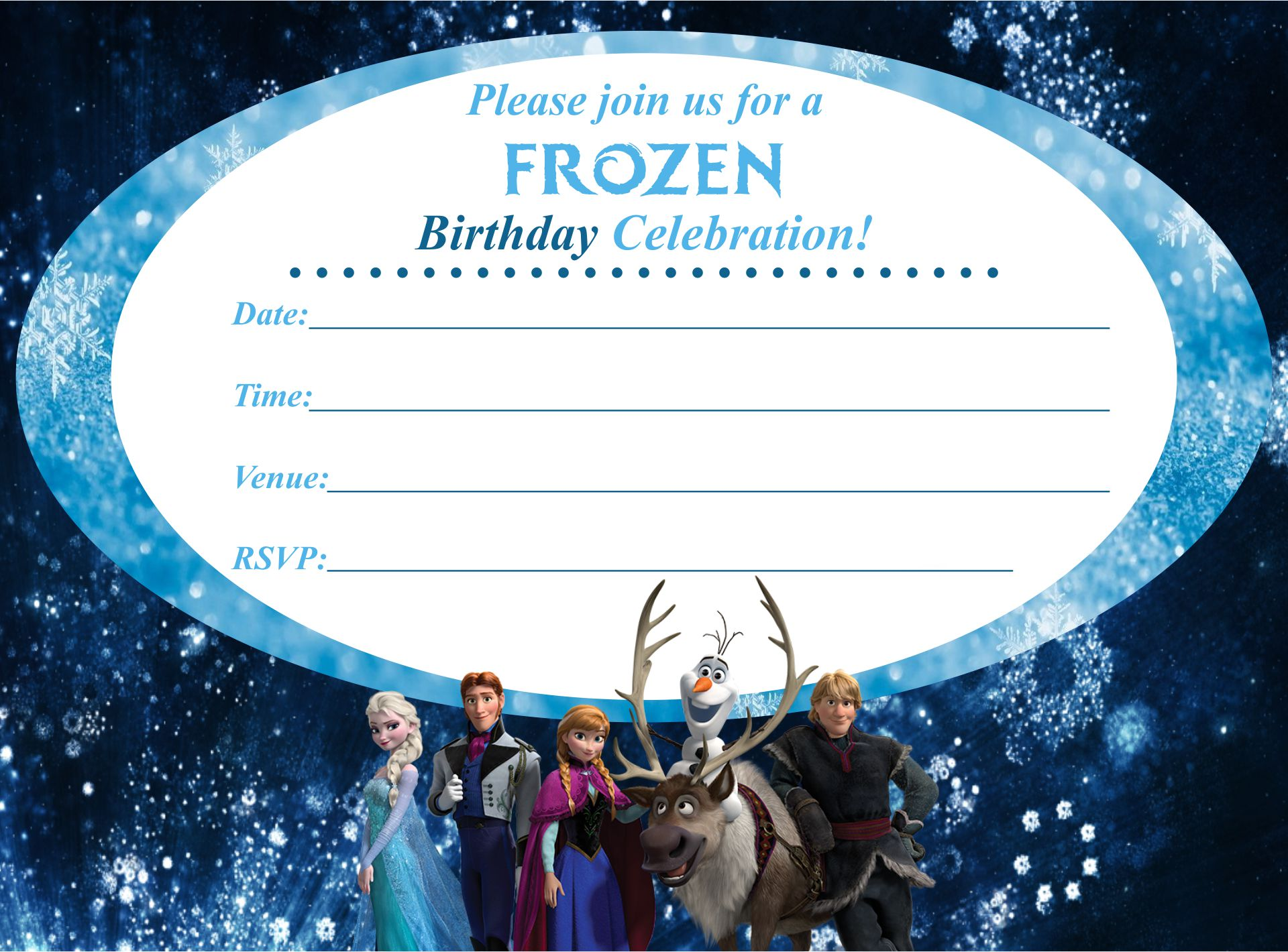 Disney Frozen Birthday Invitation Printables