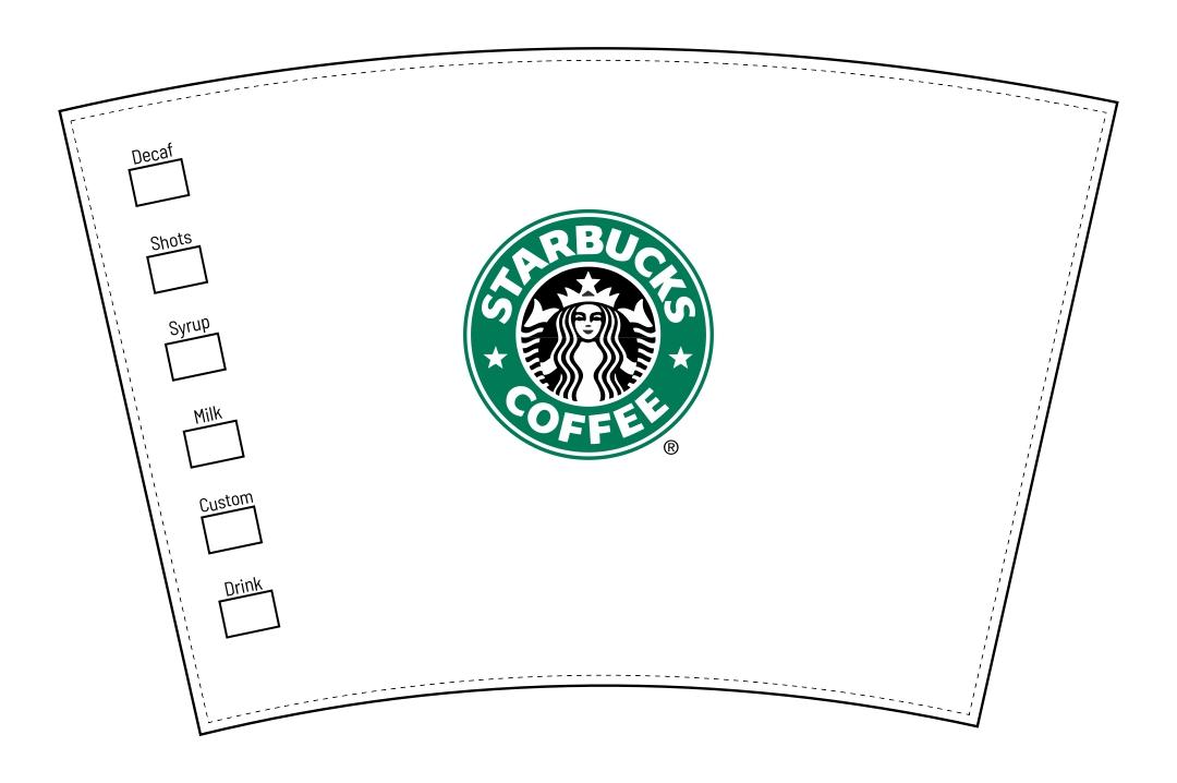 Doll Printable Starbucks Cup