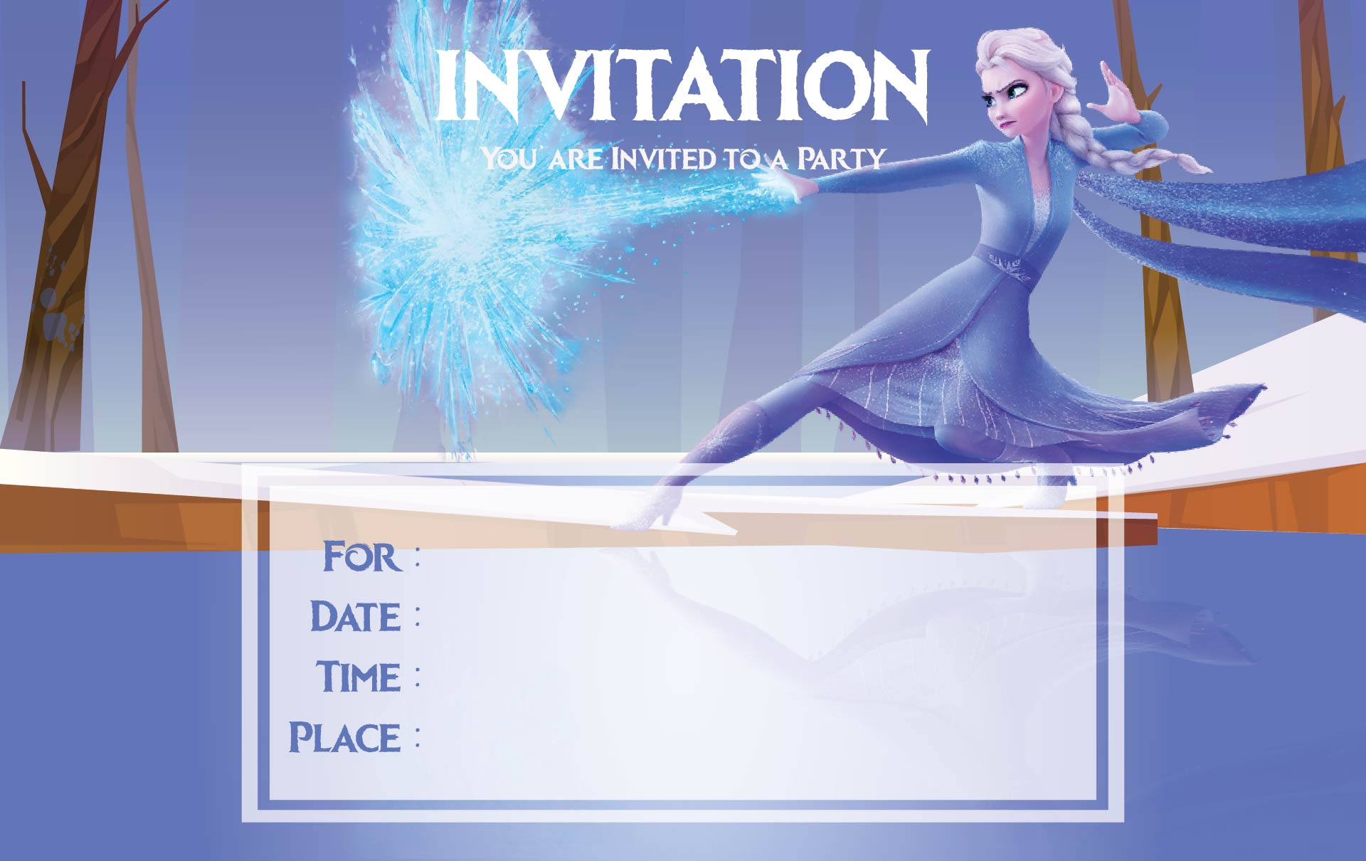 Elsa Frozen Birthday Invitation Printables