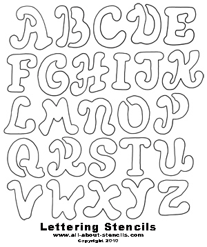 5 Images of Free Printable Alphabet Stencils To Cut Out