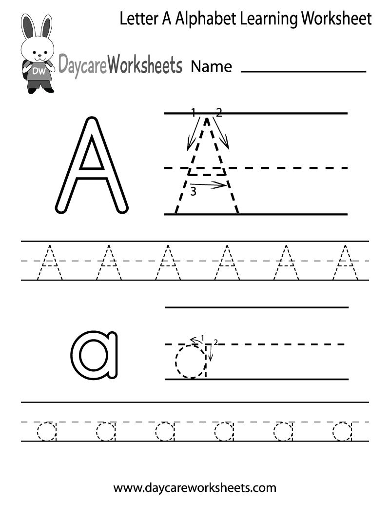 8 Images of Free Printable Letter Worksheets