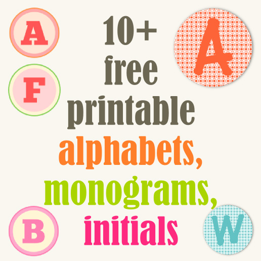 7 Images of Printable Colored Letters Monogram