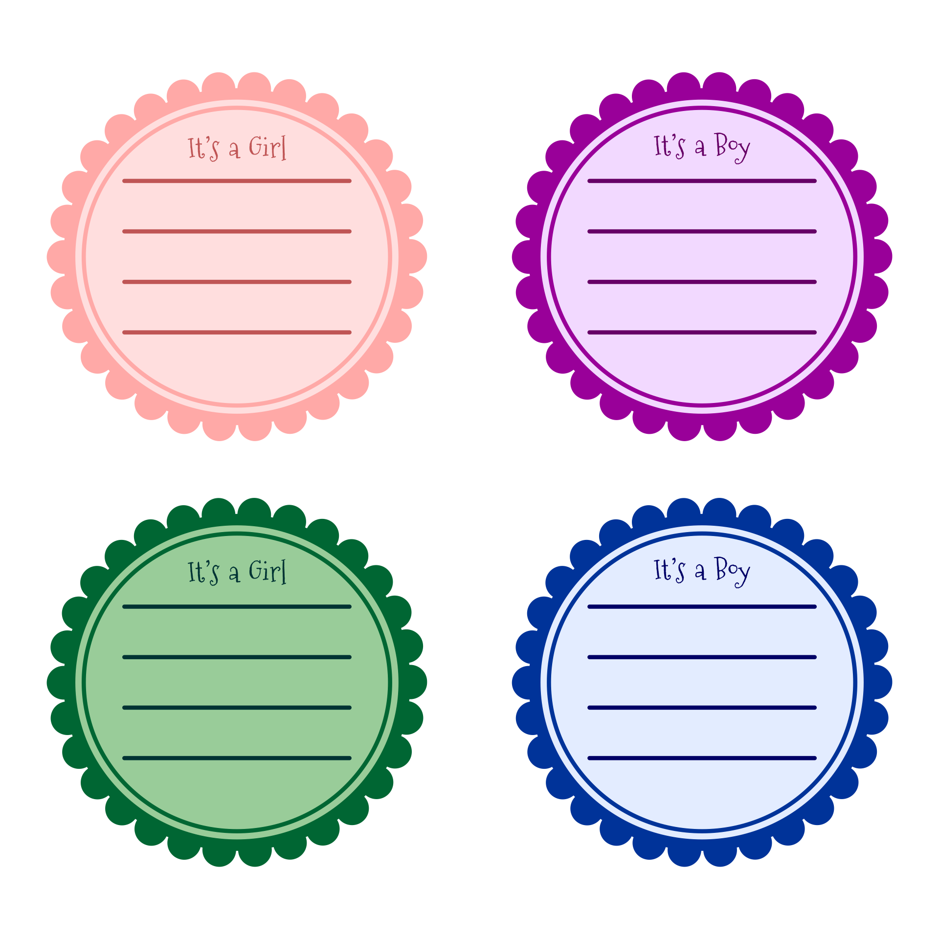 Free Printable Baby Shower Round Labels