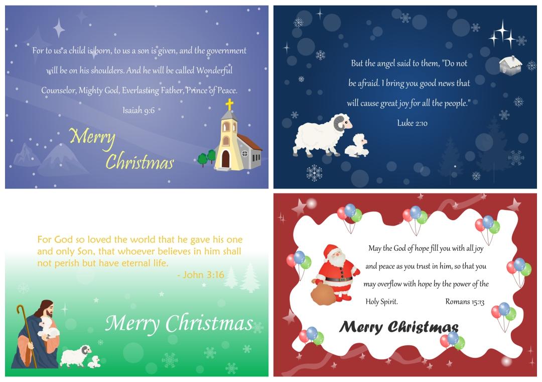 Printable Christmas Card Verses