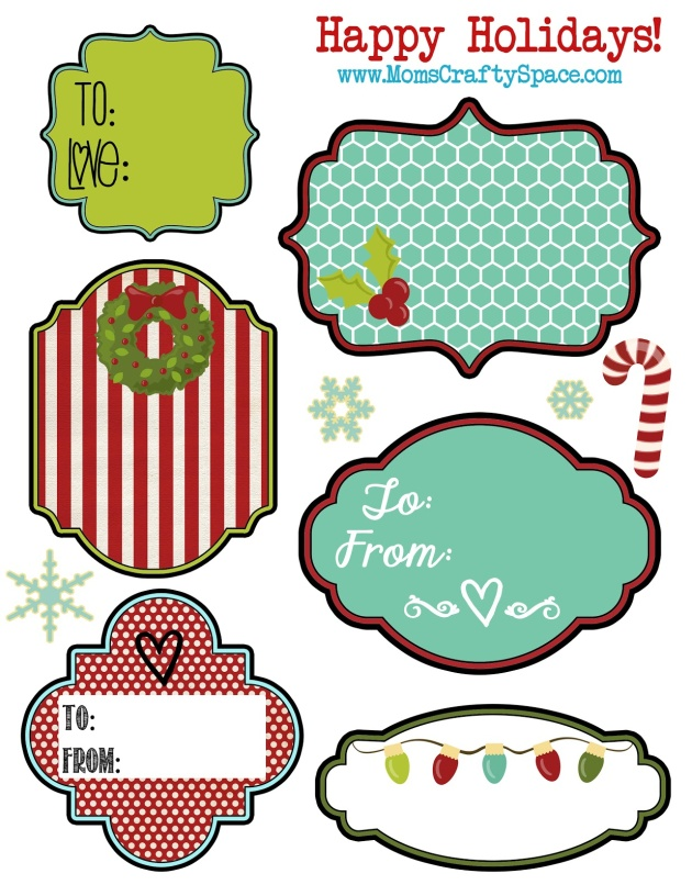 6 Images of Free Printable Gift Tags Labels