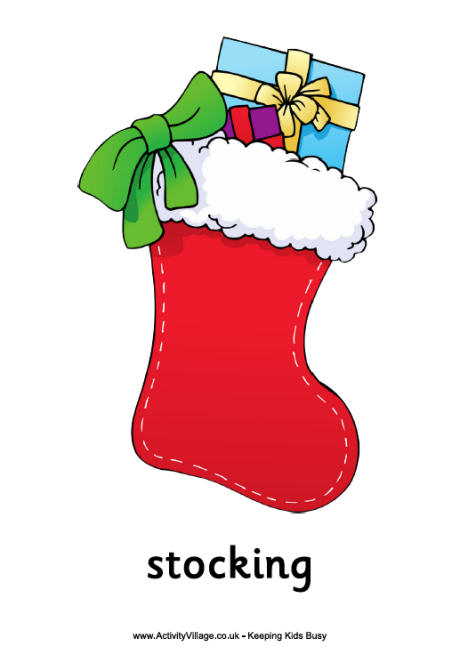 4 Best Images of Printable Christmas Stocking - Christmas ...