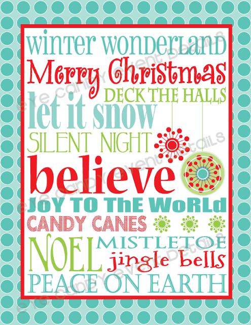 8 Images of Free Christmas Wall Printables