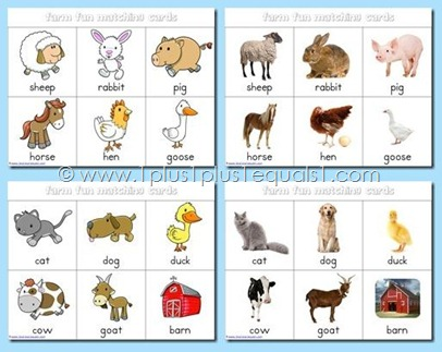 7 Images of Free Printable Farm Animal Matching Game