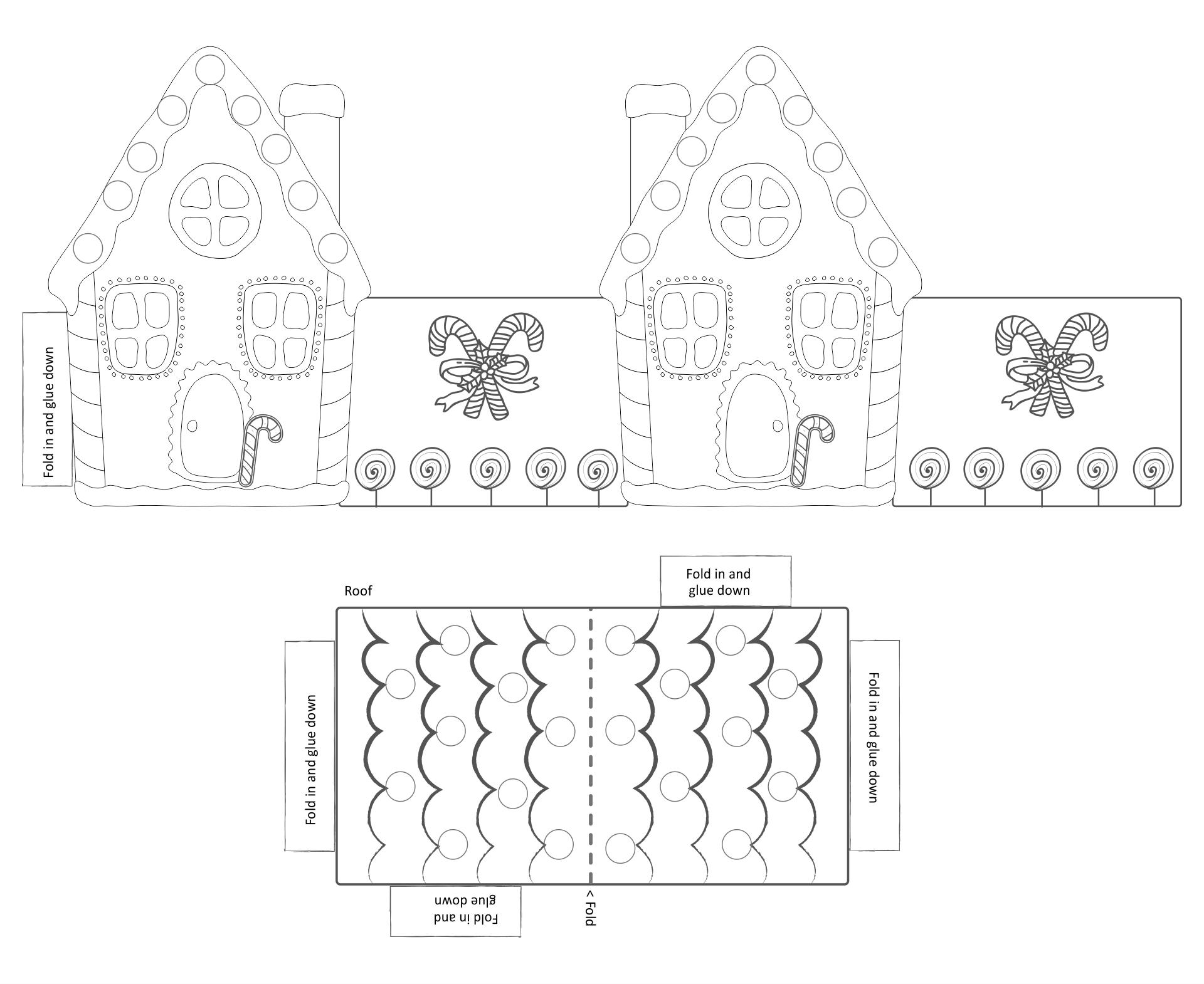 Printable Gingerbread House