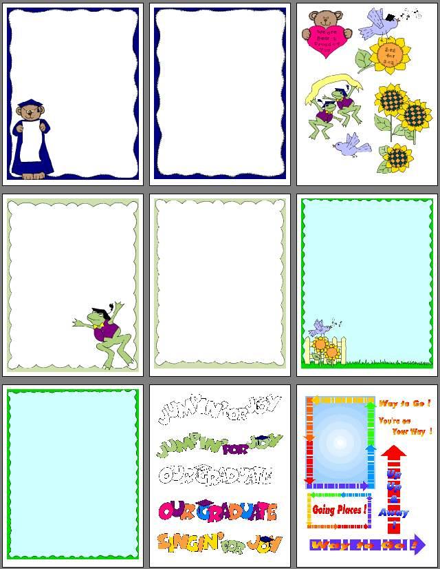 6 Images of Printable Graduation Scrapbook Paper Designs