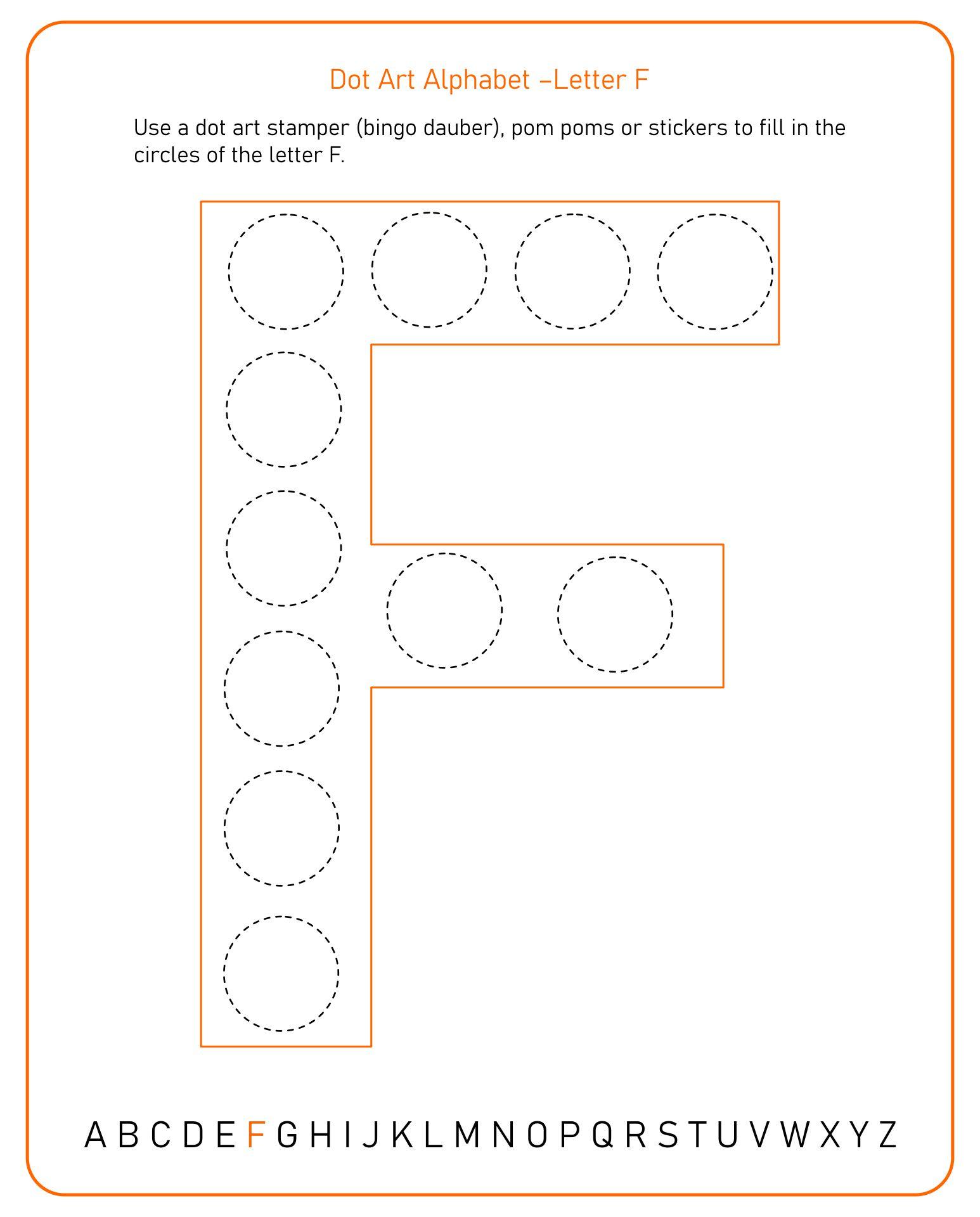 Printable Letter F Worksheets