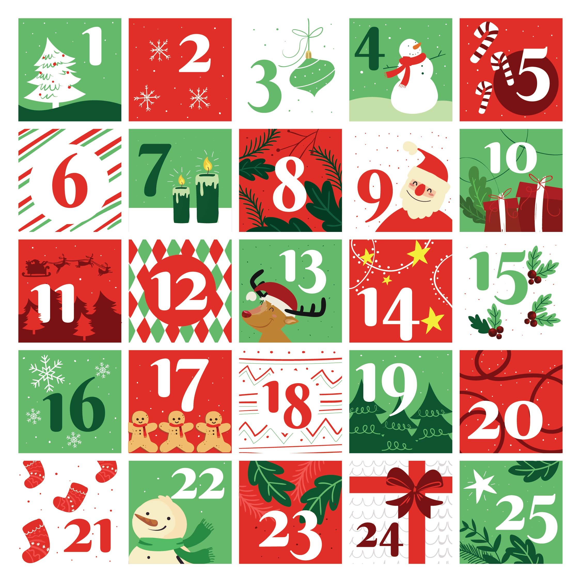 7 Images of Christmas Printable Number Stickers