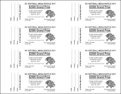 7 best images of free printable tickets template for Template for raffle tickets to print