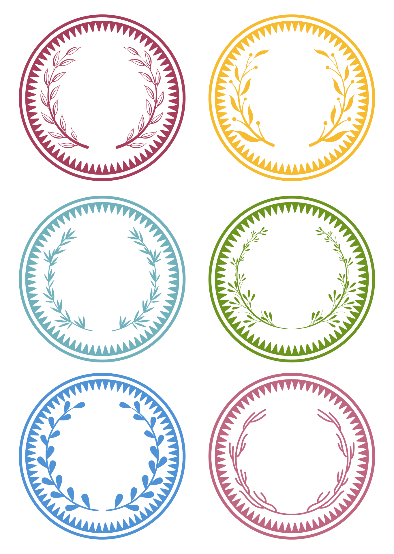 Free Printable Round Labels