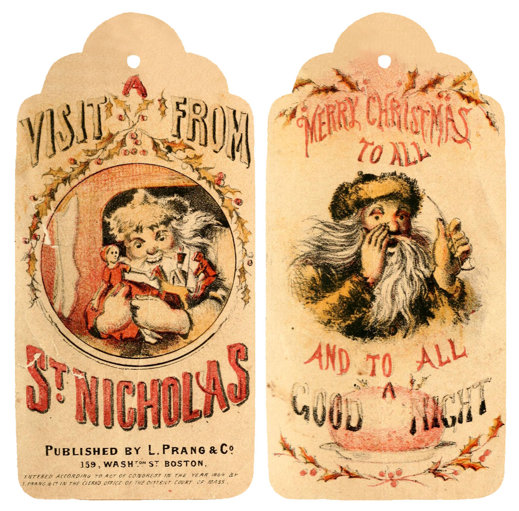 6 Images of Vintage Printable Christmas Tags