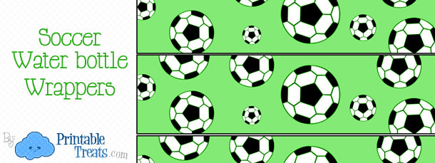 7 Images of Free Printable Water Bottle Soccer