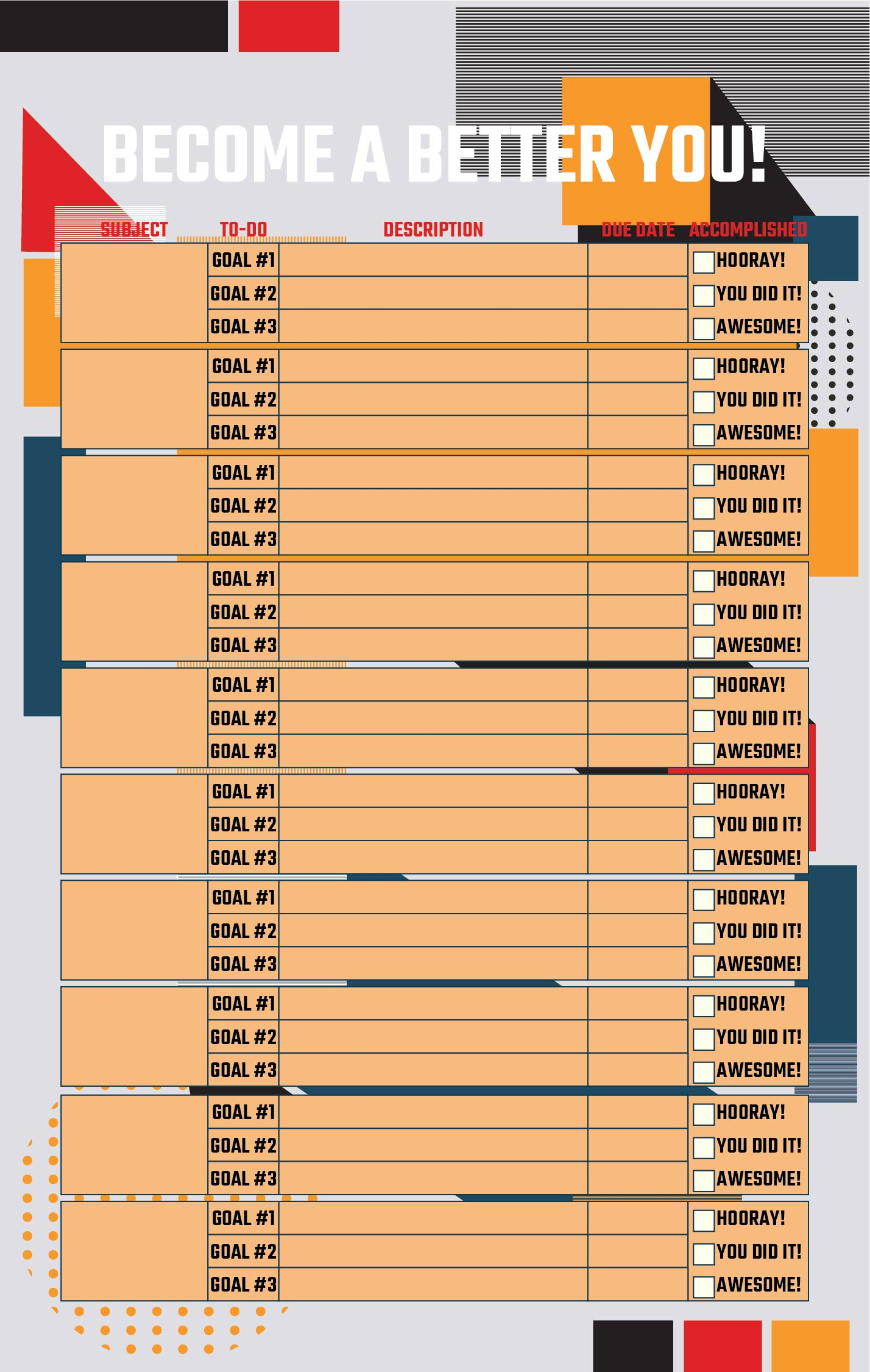 7 Images of Weight Loss Goal Chart Printable