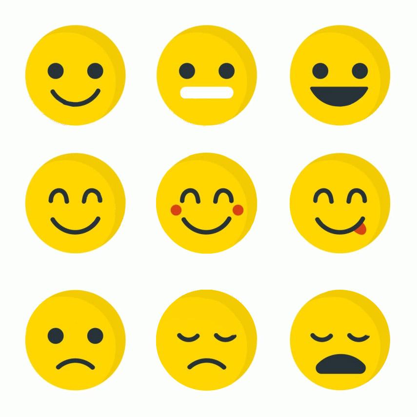 Printable Yellow Emoji Emotion Card