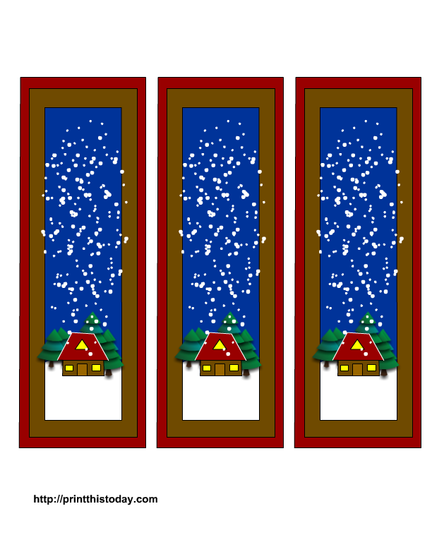 Free Winter Printable Bookmarks Templates