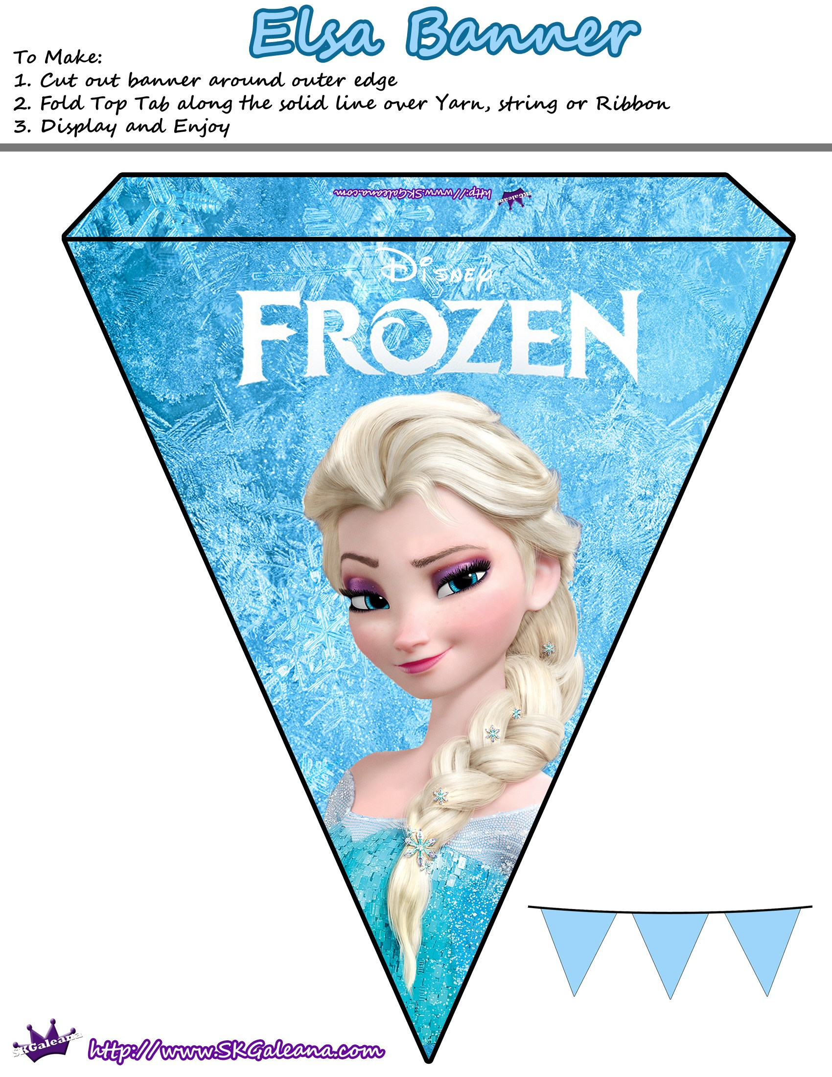 7 Images of Disney Frozen Printables Banner