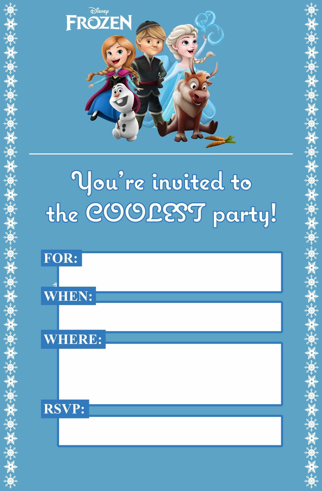 Frozen Birthday Invitation Template for your inspiration to make invitation template look beautiful