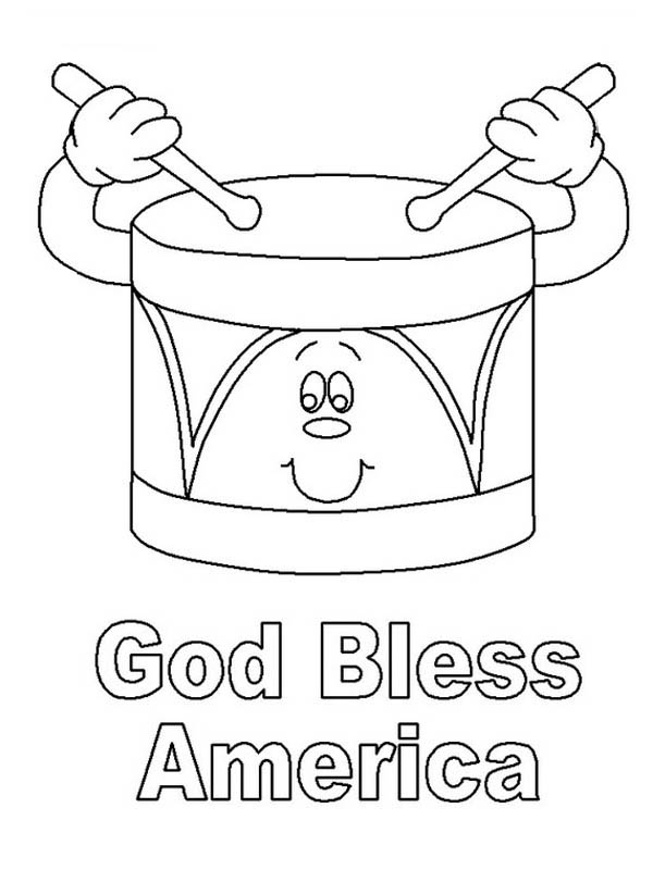 7 Images of God Bless America Printable Coloring Sheet