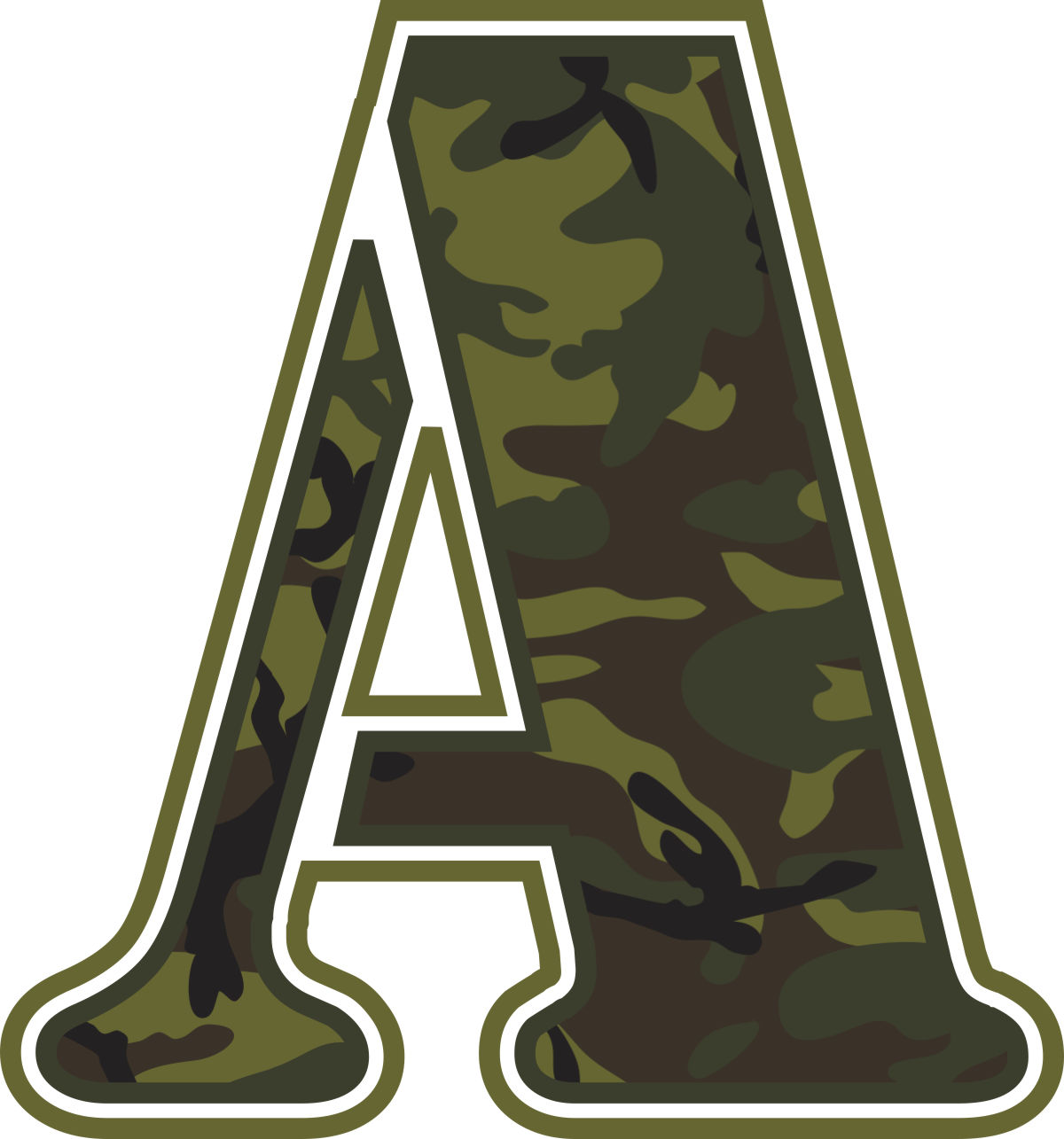 7 Images of Printable Camo Letters
