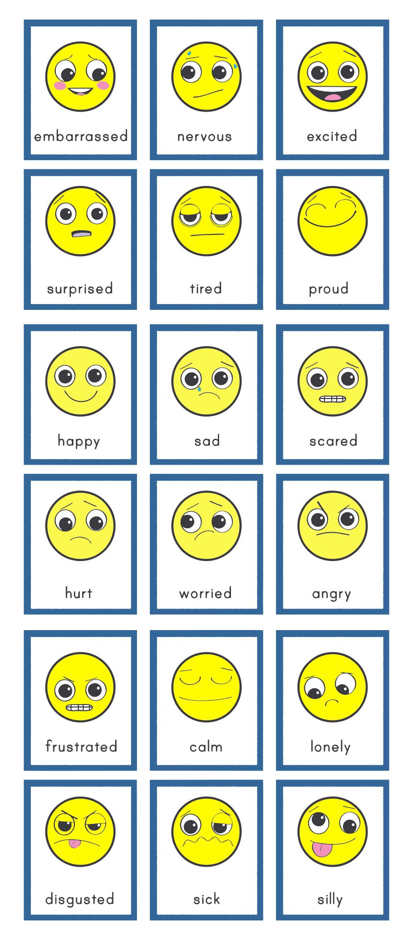 How Do You Feel Emotions Printable