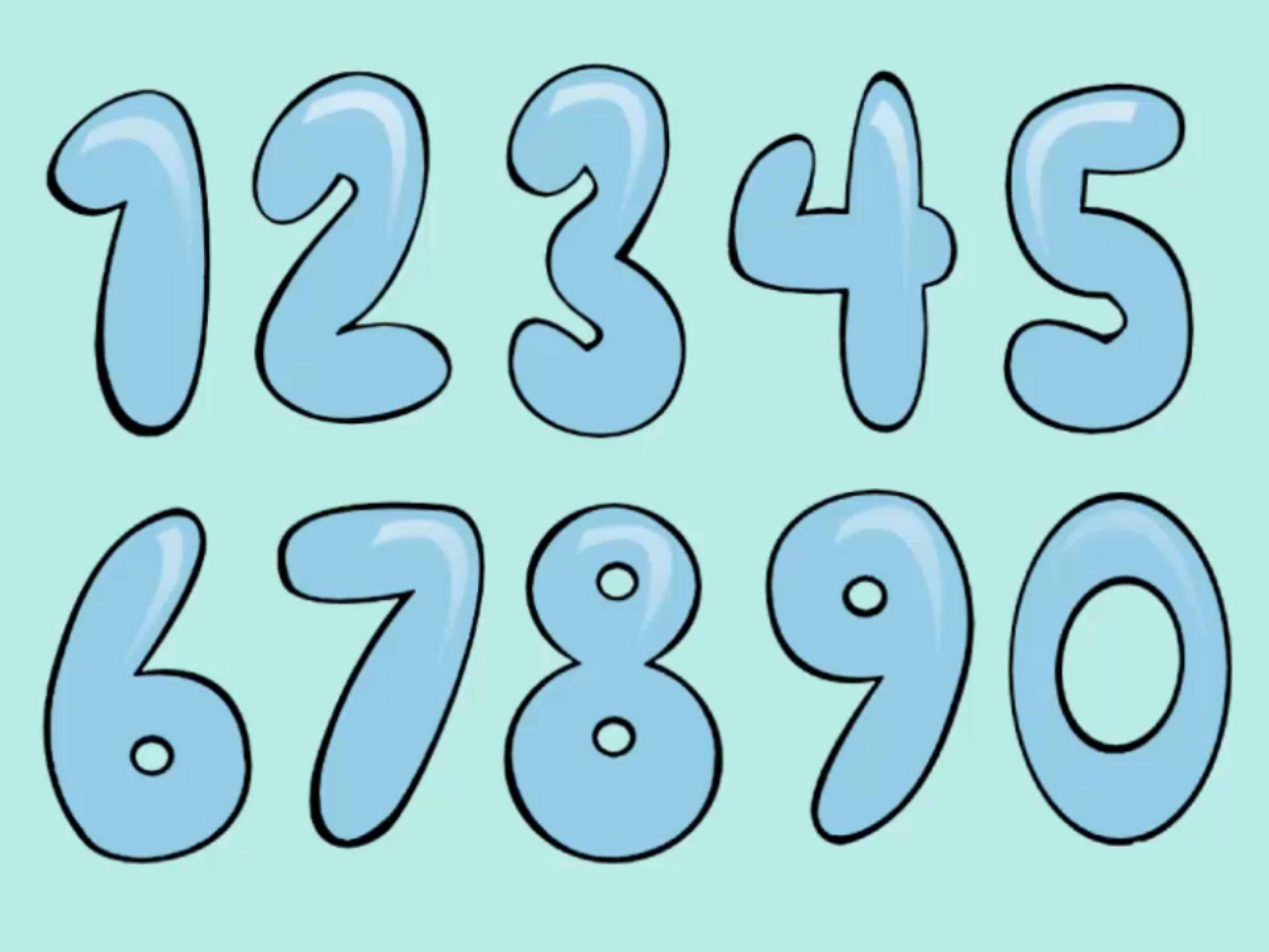 Cool Numbers 1 10 9 best images of printable bubble numbers 10 - free ...